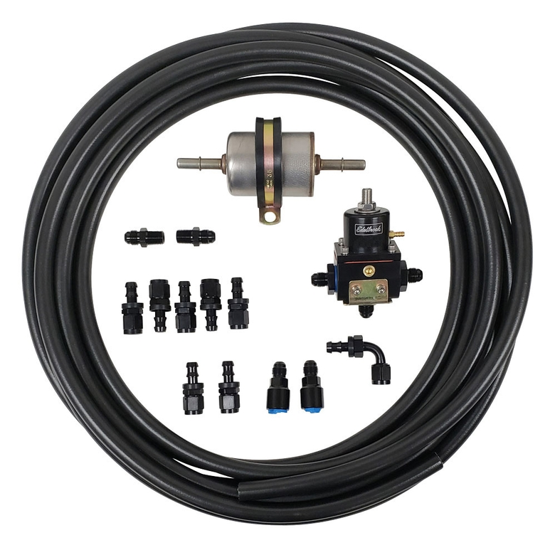 Fuel Line Kit for Carbureted Engines with Bypass Regulator