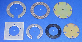 Blank Plates, Sender Plates, Split Rings & Gaskets