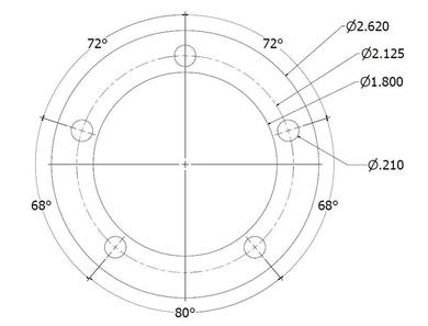 5 Bolt Sender Dimensions