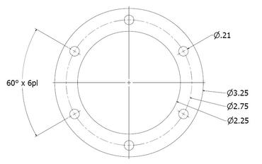 6 Hole Bolt Pattern Drawing