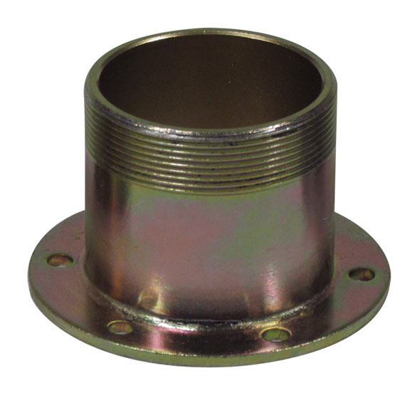 Flanged fuel neck with threaded