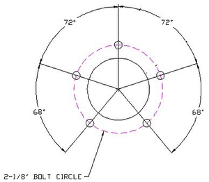 Sender Bolt Pattern & Swing