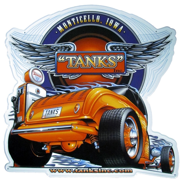 Tanks Inc. Metal Sign