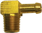 "1/4"" NPT to 5/16"" Hose Barb, 90 Degree"