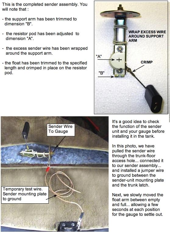 ford fuel sending unit wiring sending unit installation  sending unit installation