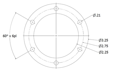 6 Hole Bolt Pattern Drawing