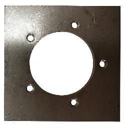 SP-SS 5 Hole Fuel Sender Mounting Plate - Stainless Steel